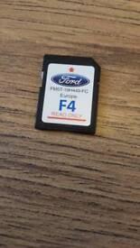 Ford europe sat nav maps sd card. F4