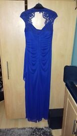 Evening/prom dress. Vintage long style. Blue size 10