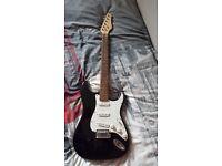 Stratocaster Electric Guitar + Mini Amplifier