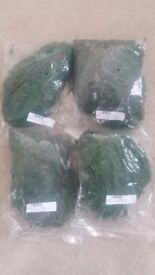 Bags of artificial green moss ideal for decoration