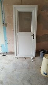 Upvc door and frame with opening tilt and turn window