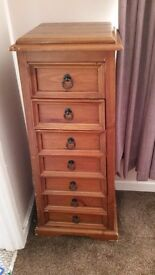 Wooden tall draws (2 available)