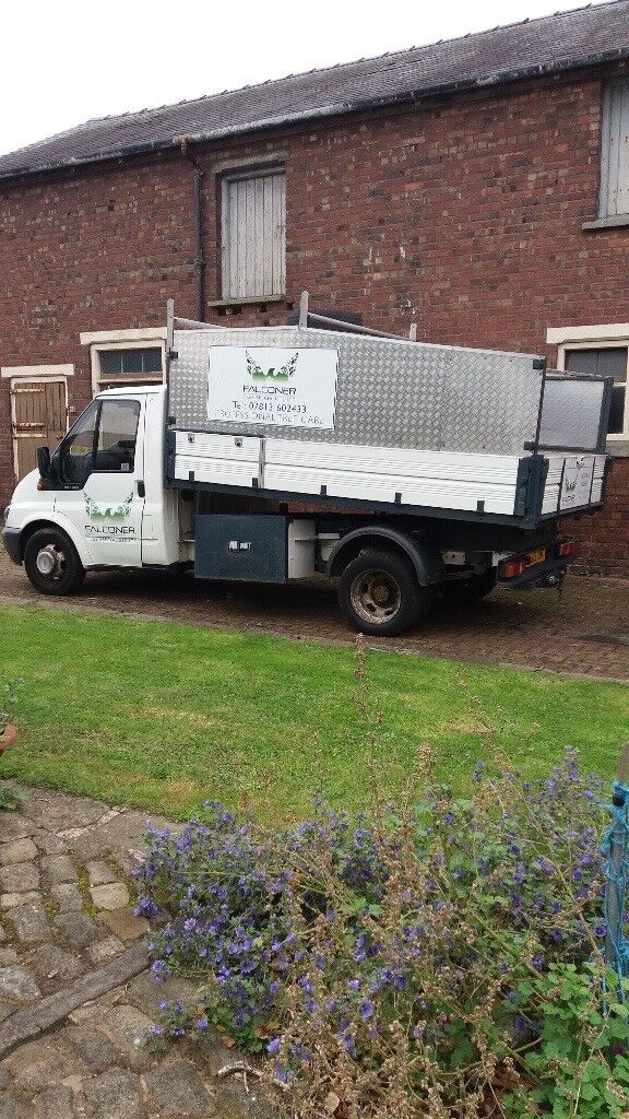Low mileage transit tipper, ready for work. Suit tree-surgeon/landscaper