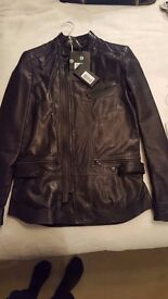 DIESEL BLACK GOLD LUSTYNO GIACCA LEATHER JACKET SIZE 38UK NEW WITH TAGS RRP £880