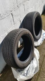 "255/55/ZR19 USED TYRES - REMOVED FROM A ""54"" PLATE RANGE ROVER VOGUE"