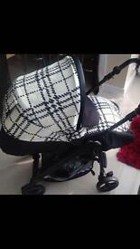 Mamas and papas switch Harper check pram, stroller and pushchair.