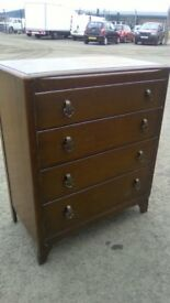 Vintage 1950s four drawer chest