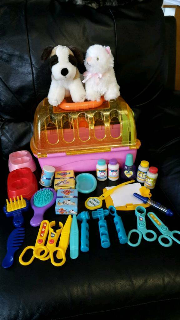 My pet Kitty Grooming and Puppy Vet Combo toys