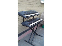 Yamaha double keyboard and stand - perfect for the aspiring rocker!