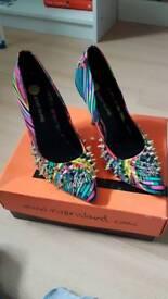 Multi coloured shoes size 6