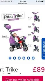 Smart trike - splash purple recliner