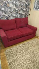 Two seater Next Sofa Wine