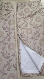 Long heavy curtains L182cmxW165cm