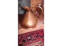 Antique copper four gallon ale jug