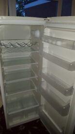 Excellent condition Beko tall larder fridge barely used. 5 shelves, salad crisper, wine holder.