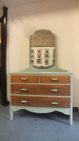BEST OFFER: Up-cycled Vintage Dressing Table with Swing Mirror