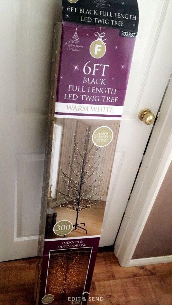 Indoor outdoor 6ft Xmas Christmas tree twig led 300 lights