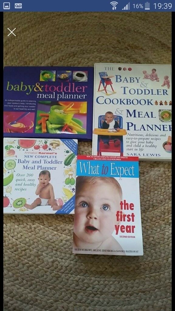 bundle of baby food recipe and food planner books in attleborough