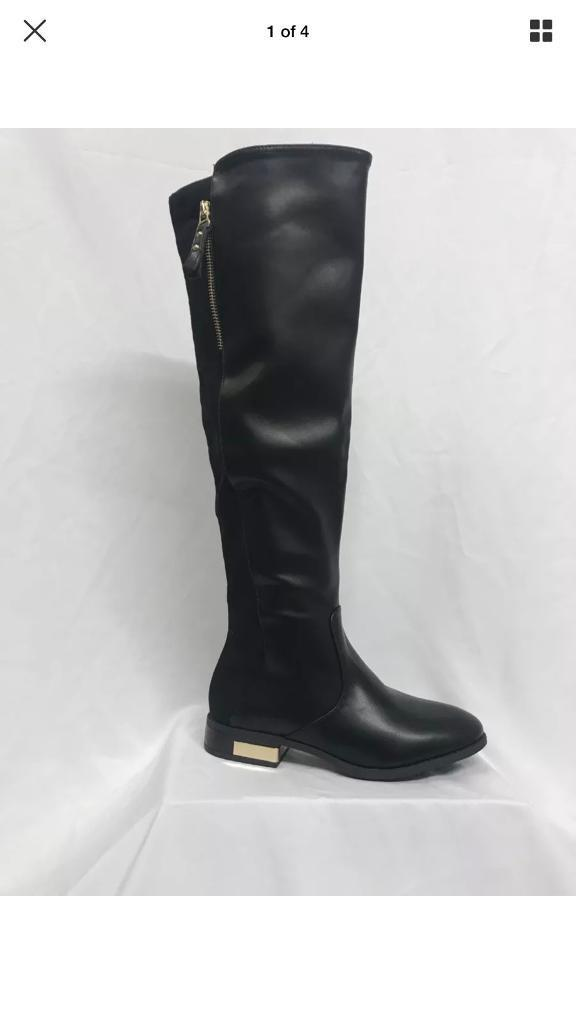 Wide fit Size 8 BLACK Brand NEW boots