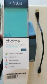 Fitbit Charge Wireless Activity Wristband Slate- Small