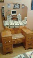 Art Deco Wooden Vanity Table