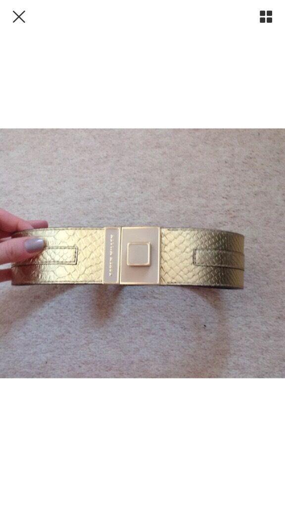 Karen millen gold belt size 1