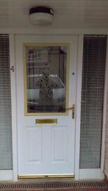 UPVC White Front Door - new reduced price