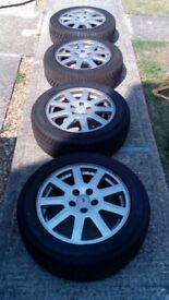 """Mondeo mk3 16""""Alloy wheels with good tyres"""