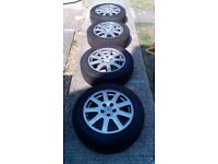"Mondeo mk3 16""Alloy wheels with good tyres"