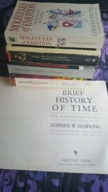 Books by Locke, Bulgakov, Chomsky & Herman, Pert, Hawking