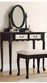 Black vintage style dressing table