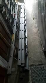 3 section aluminium extension ladder 6.5 meter long