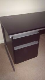 Black Office Desk with 2 drawers