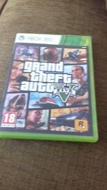 XBOX 360 GAME GTA5 .. GOOD CONDITION. USED ONLY A.COUPLE OF TIMES .. BOX HAS A BREAK.