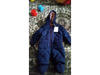 Brand New Mini Club Padded Snowsuit 0 - 3 months