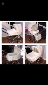 Silver Cross Sleepover Pram perfect mother of pearl colour perfect condition !! Grab a bargain
