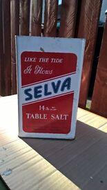 COLLECTABLES SALVA SALT TIN ADVERTISING