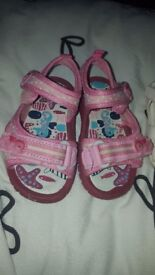 Two pairs of girls sandles size 5