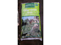 2 x 40 litre bags of ornamental bark chippings - unopened
