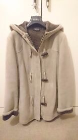 Fratelli Rossetti Suede Leather Coat (SIZE 46)
