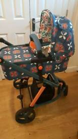 Complete cosatto toodle pip travel system and BRAND NEW CARRY COT