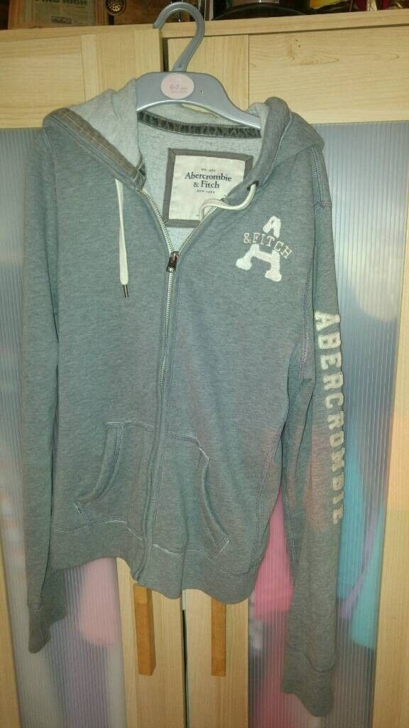 Abercrombie & Fitch Grey Hoodie size 8-10..excellent...100% Genuine