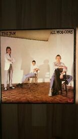 The Jam - two original vinyl LPs (All Mod Cons and That's Entertainment)