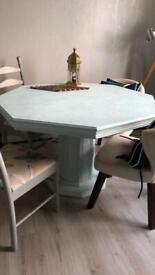 Solid wood extendable round table- beautiful
