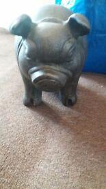 Ceramic pig ornament