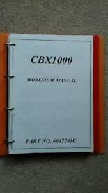 HONDA CBX 1000 WORKSHOP MANUAL.
