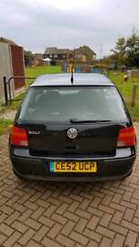 VW GOLF MK4 1.4L PETROL 2002 BLACK 3 DOOR
