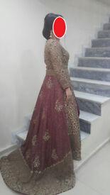 Wedding Dress Pakistani / Indian Golden Red