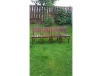John Lewis solid wood garden chairs, £30