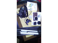 samsung nx mini with 2 lenses professional tripod leather case extra flash 2 screen protectors